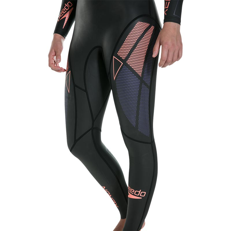 Speedo Fastskin Xenon Thin Swim Full Sleeve Wetsuit Black/Diva/Siren Red