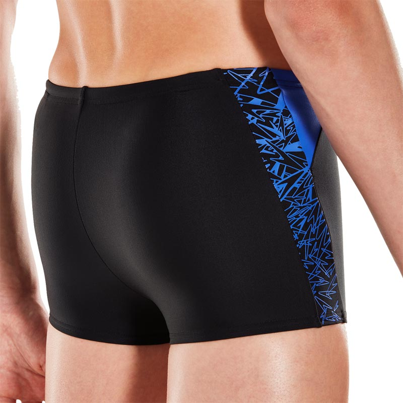 Speedo Boys Boom Splice Aquashort Black/Amparo Blue