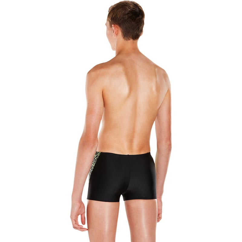 Speedo Boys Boom Splice Aquashort Black/Apple Green