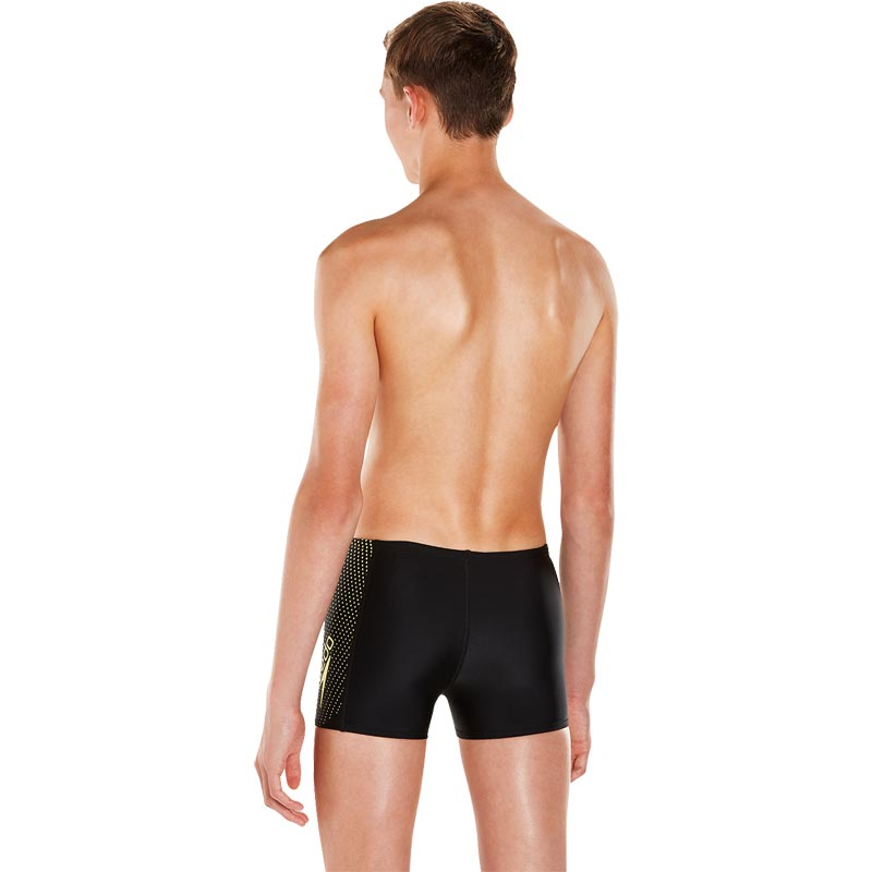 Speedo Boys Gala Logo Panel Aquashort Black/Citron