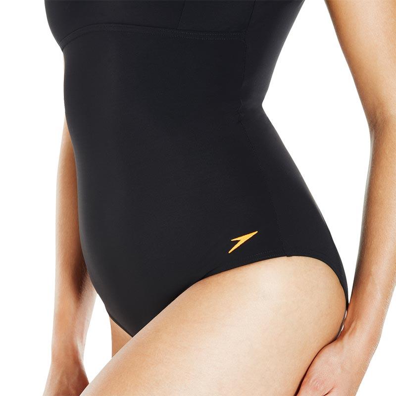 Speedo Contour Renew Swimsuit Black/Fluo Orange