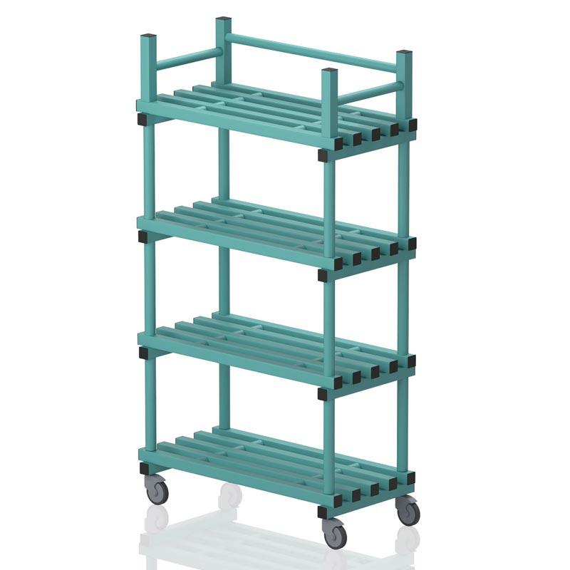 Vendiplas Mobile Shelving Unit