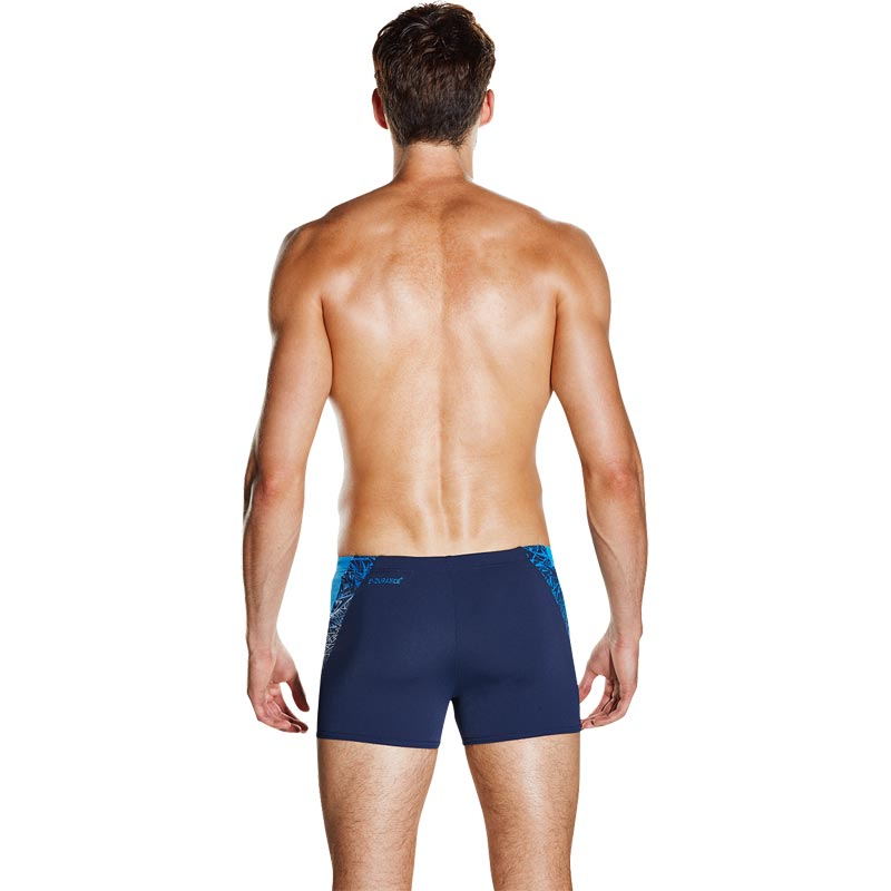 Speedo Mens Boom Splice Aquashort Navy/Neon Blue