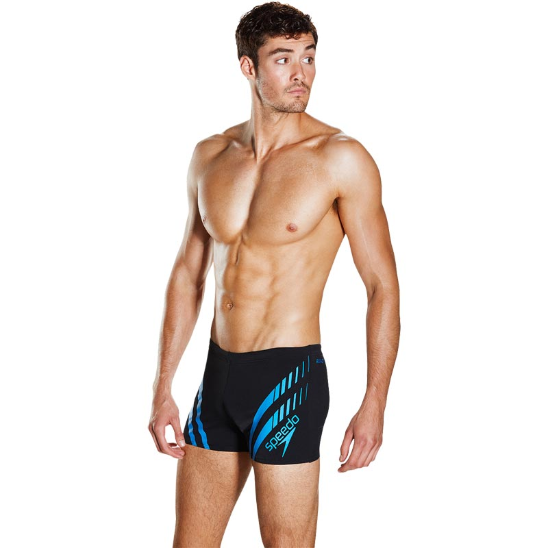 Speedo Sport Panel Aquashort Black/Neon Blue