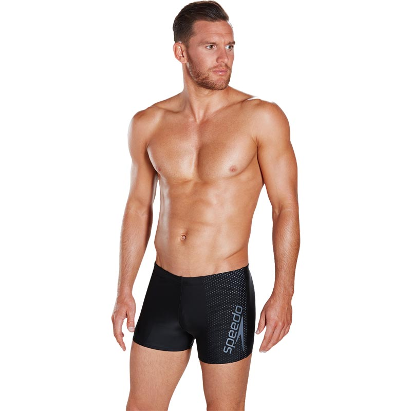 Speedo Gala Logo Aquashort Black/USA Grey