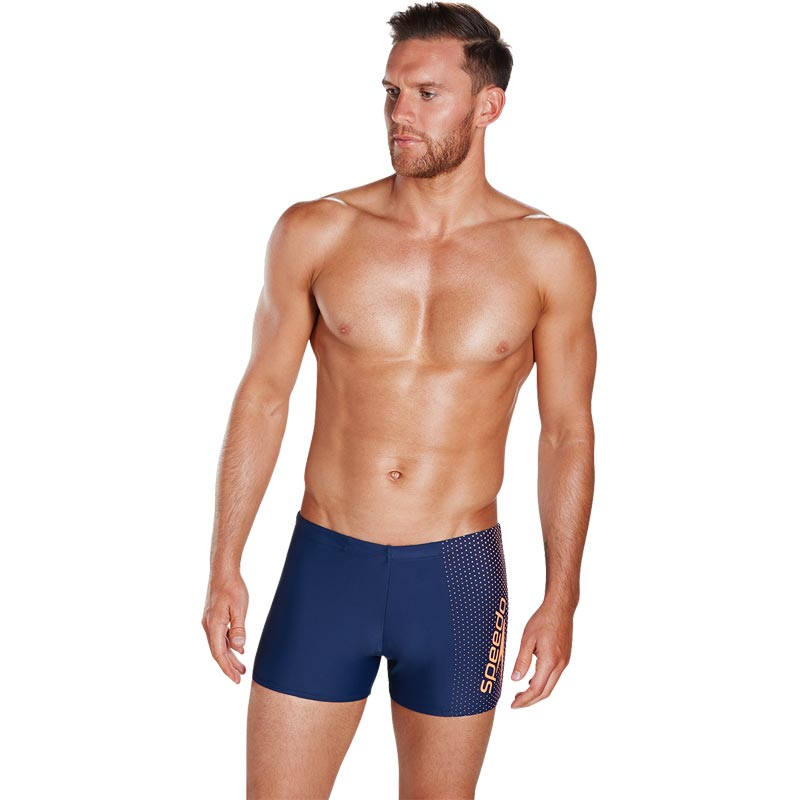 Speedo Gala Logo Aquashort Navy/Fluo Orange
