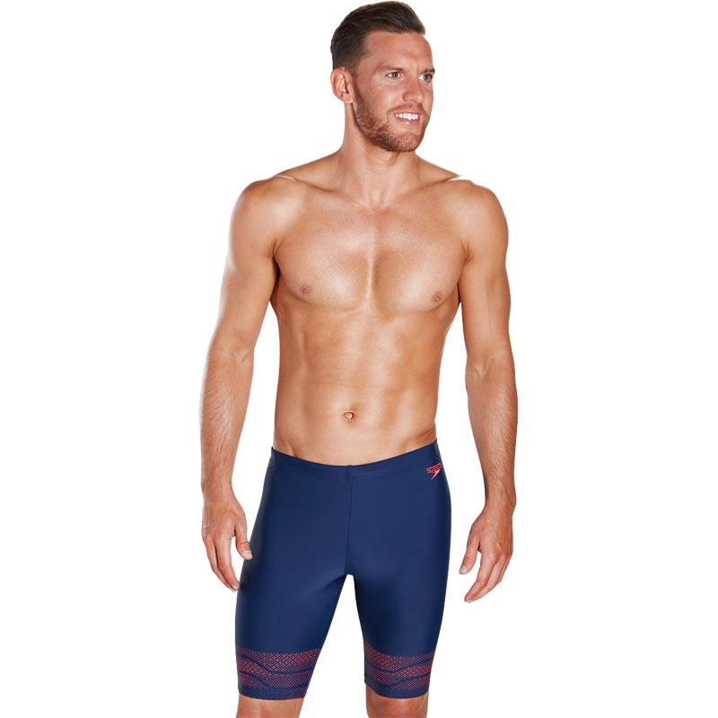 Speedo Lane Jammer Navy/Lava Red