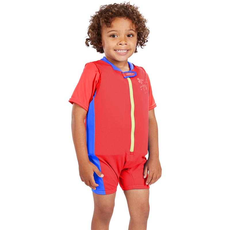 Speedo Sea Squad Float Suit Lava Red/Neon Blue
