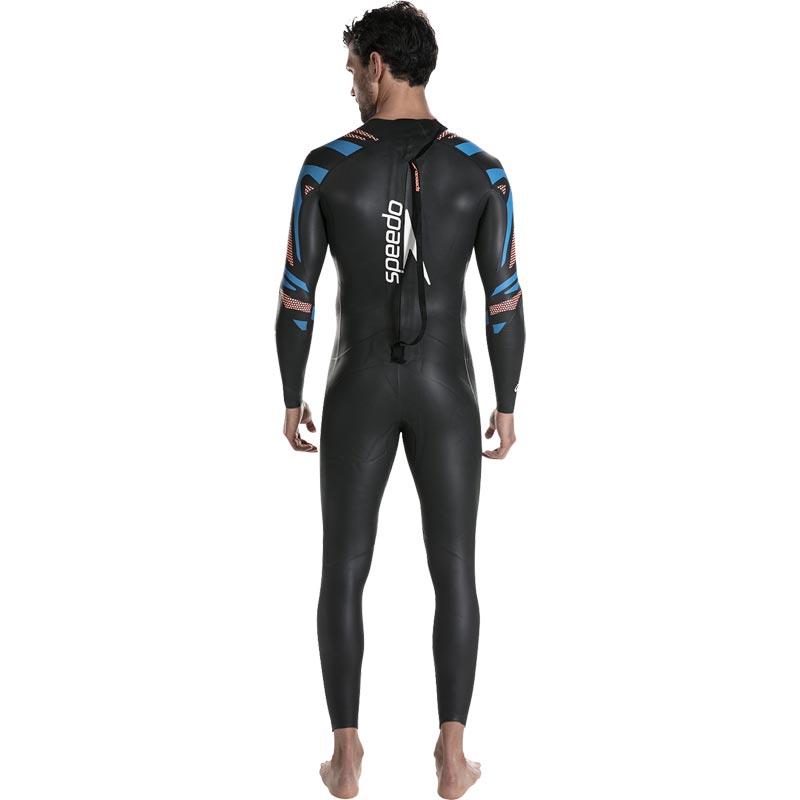 Speedo Fastskin Proton Wetsuit Black/Amparo Blue/Siren Red