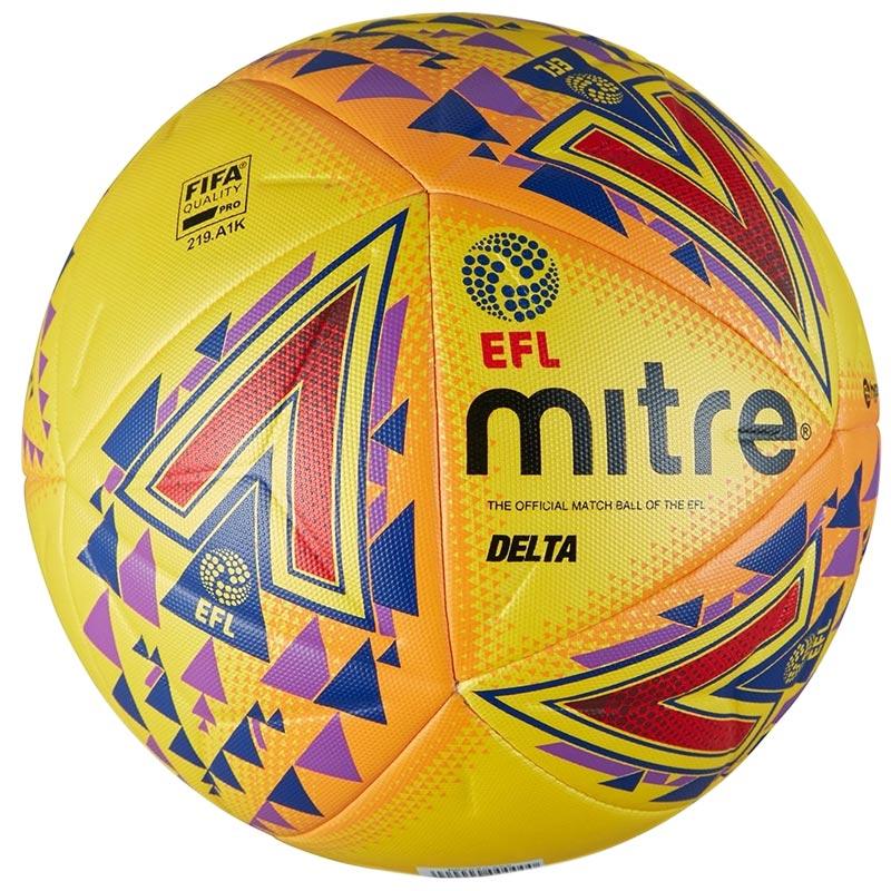 Mitre Delta Legend Match Football Yellow