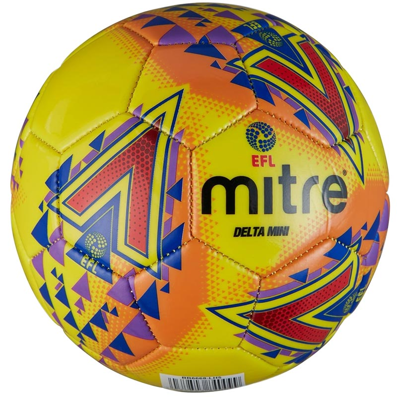 Mitre Delta Legend Mini Football Yellow
