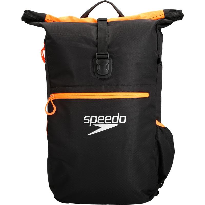 9fff7dec99250 Speedo Team 3 Rucksack Black Fluo Orange