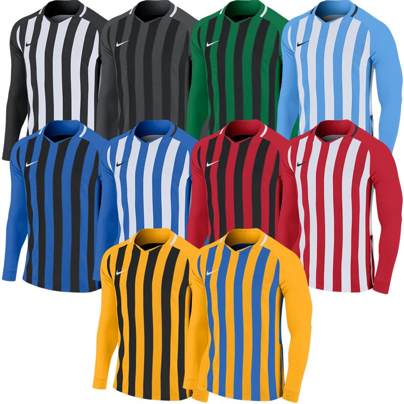 Nike Striped Division III Long Sleeve Junior Football Shirt