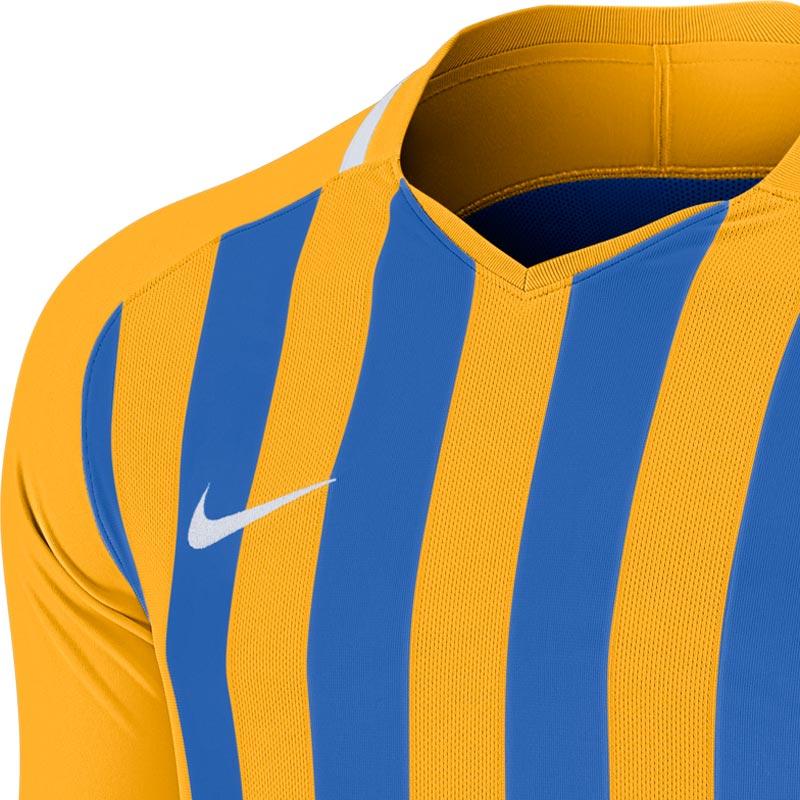 Nike Striped Division III Long Sleeve Senior Football Shirt University Gold/Royal Blue