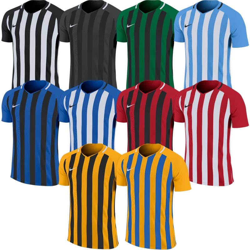 Nike Striped Division III Short Sleeve Junior Football Shirt