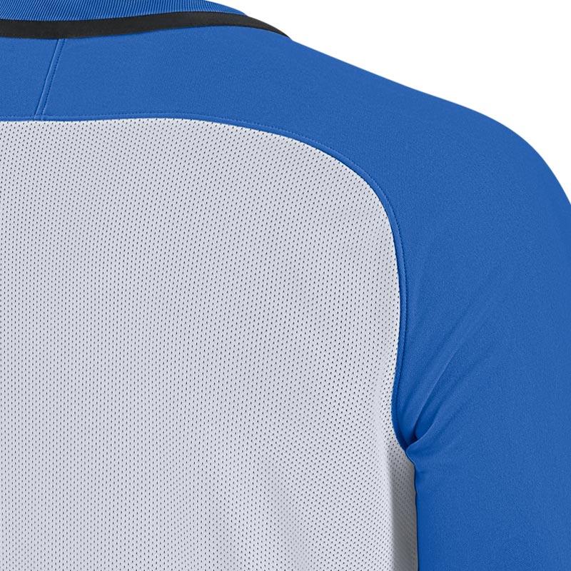 Nike Striped Division III Short Sleeve Senior Football Shirt Royal Blue/White