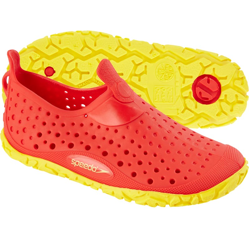 Speedo Junior Jelly Shoes Red/Yellow