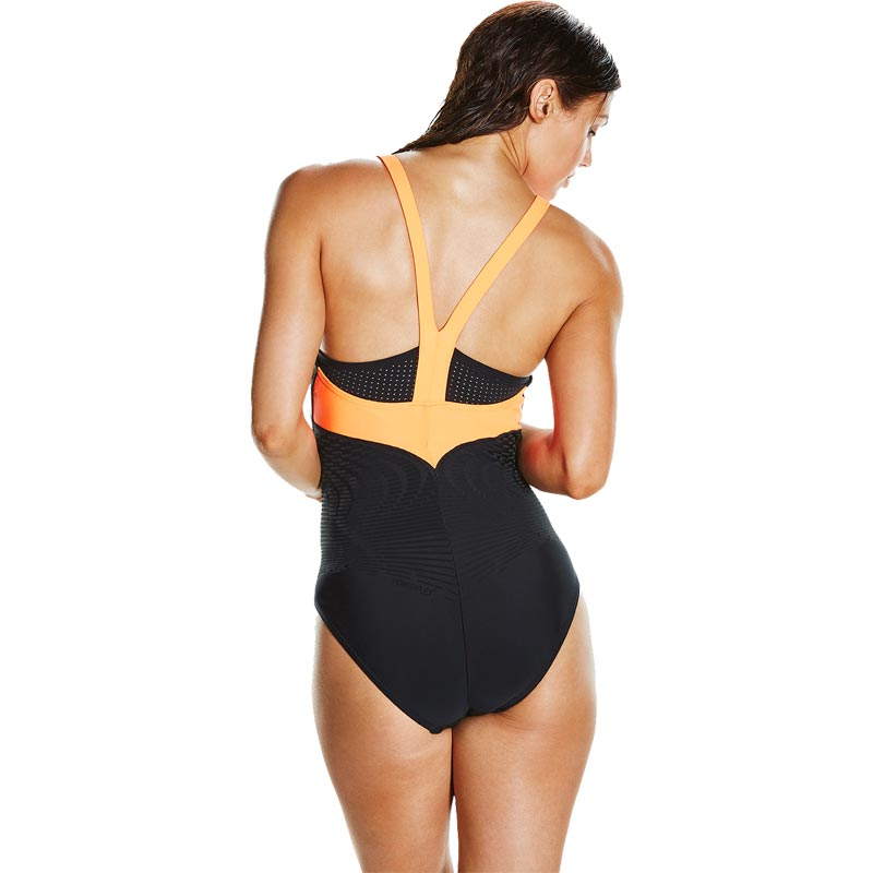Speedo Fit Powerform Pro Swimsuit Black/Fluo Orange