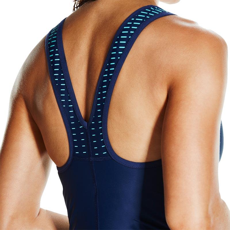 Speedo Fit Powermesh Pro Swimsuit Navy/Spearmint