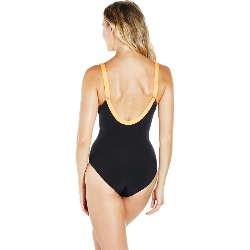 Speedo Sculpture Aquajewel Swimsuit Black/Ultramarine/Fluo Orange
