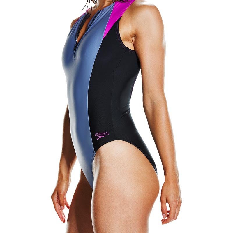Speedo Hydrasuit Swimsuit Black/Vita Grey/Diva