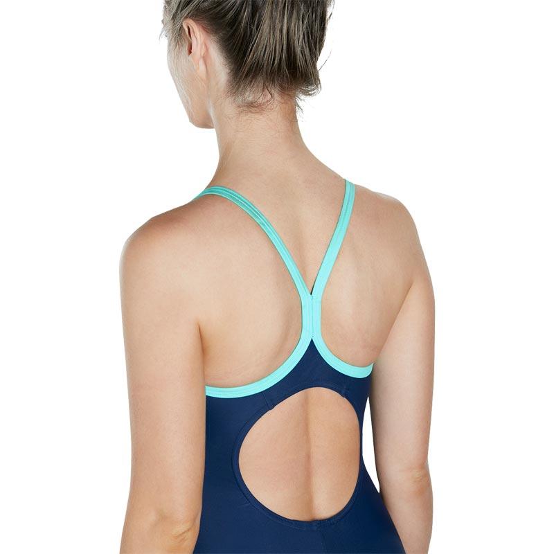 Speedo Splice Thinstrap Racerback Swimsuit Navy/Diva/Spearmint