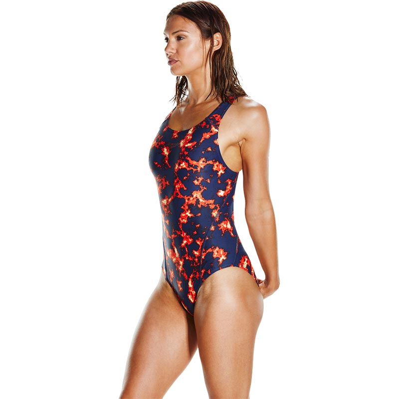 Speedo Lavalightening Recordbreaker Swimsuit Navy/Fluo Orange