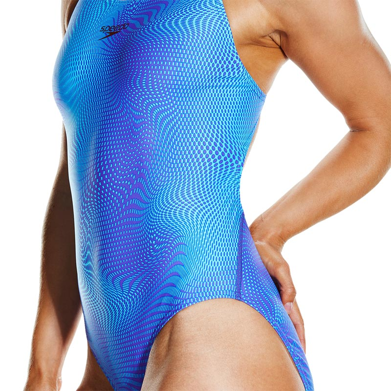 Speedo Liquefaction Powerback Swimsuit Violet/Turquoise