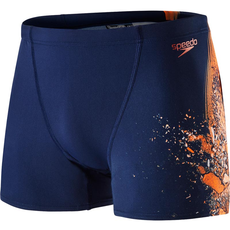 Speedo Alpha Blast Placement V Aquashort Navy/Fluo Orange