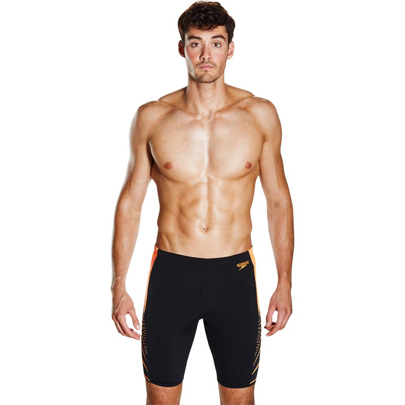 Speedo Graphic Splice Jammer Black/Fluo Orange
