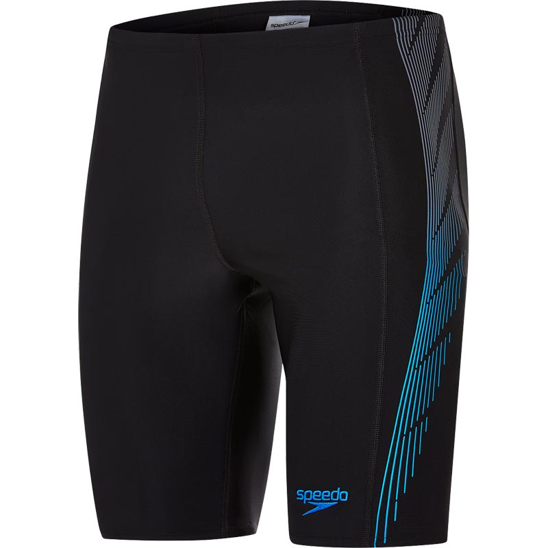 Speedo Placement Panel Jammer Black/USA Charcoal/Neon Blue