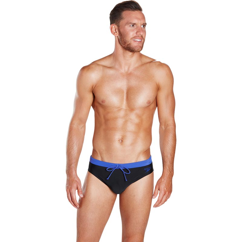 Speedo Contrast 7cm Brief Black/Ultramarine