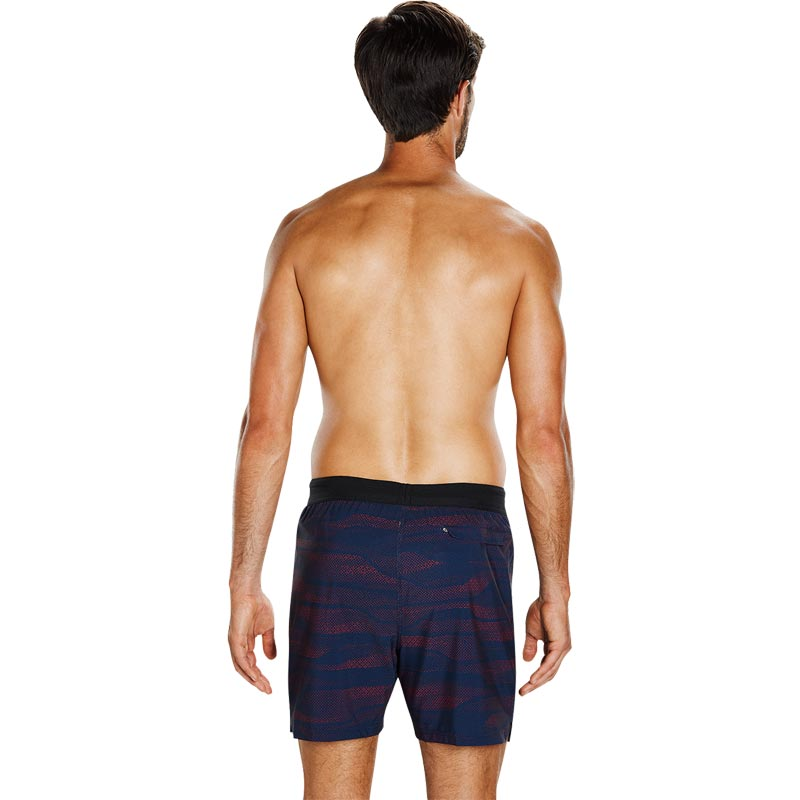 Speedo Lane Printed 16 Inch Watershort Navy/Lava Red