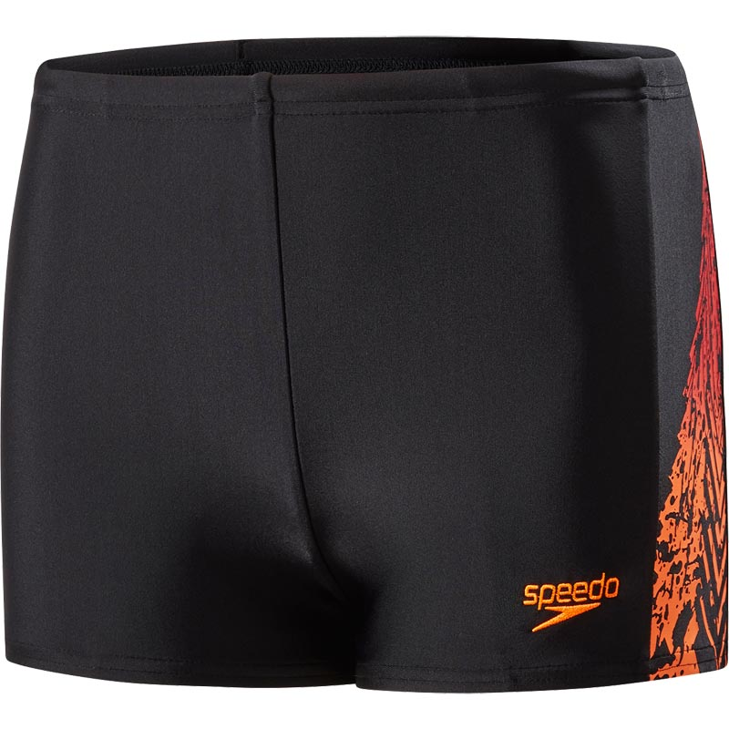 Speedo Boys Lightening Spritz Panel Aquashort Black/Orange/Red