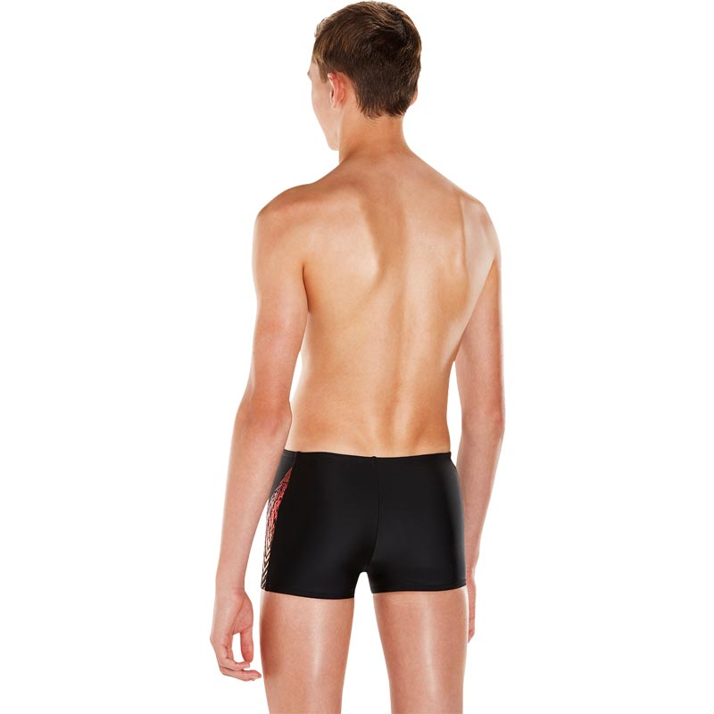 Speedo Boys Lightening Spritz Panel Aquashort Black/Orange/Red