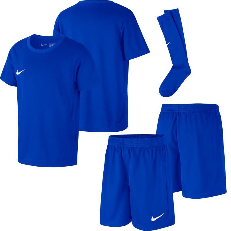 b2c391064 Nike Park Little Kids Football Kit Set Royal Blue. Tap to expand
