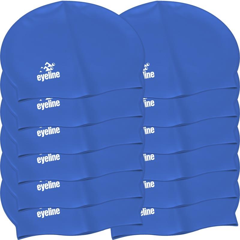 Eyeline Senior Latex Swimming Cap 12 Pack Blue