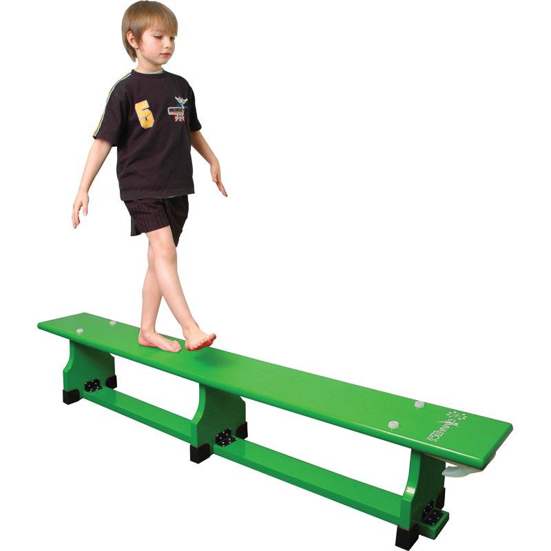 Sure Shot Coloured Balance Bench Green
