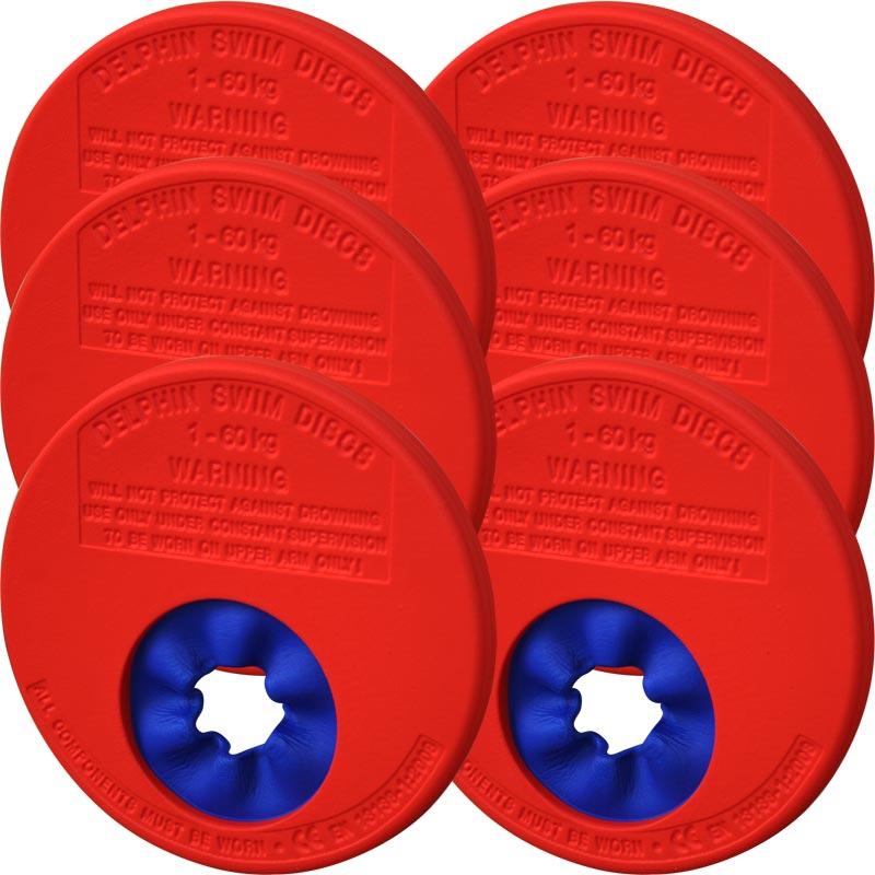 Delphin Disc Swimming Aid Junior 6 Pack