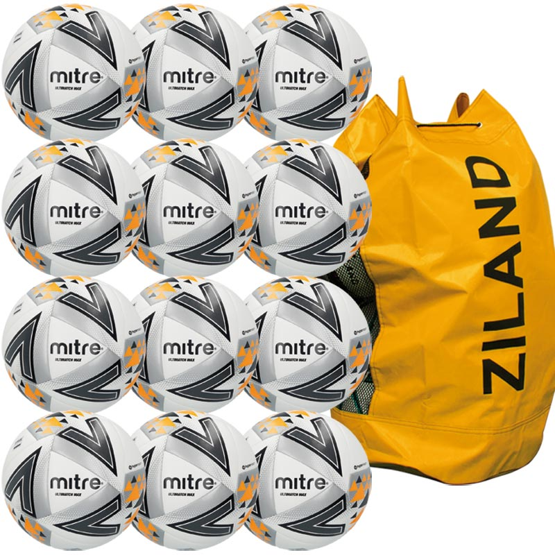 Mitre Ultimatch Max Match Football White