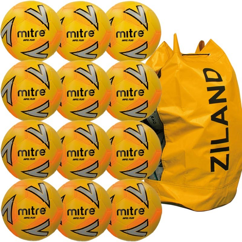 Mitre Impel Plus Training Football Yellow