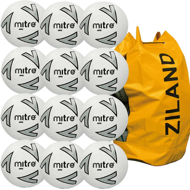 Mitre Impel Training Football White