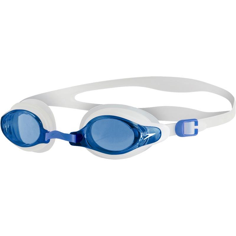 Speedo Mariner Supreme Swimming Goggles Clear/White/Blue