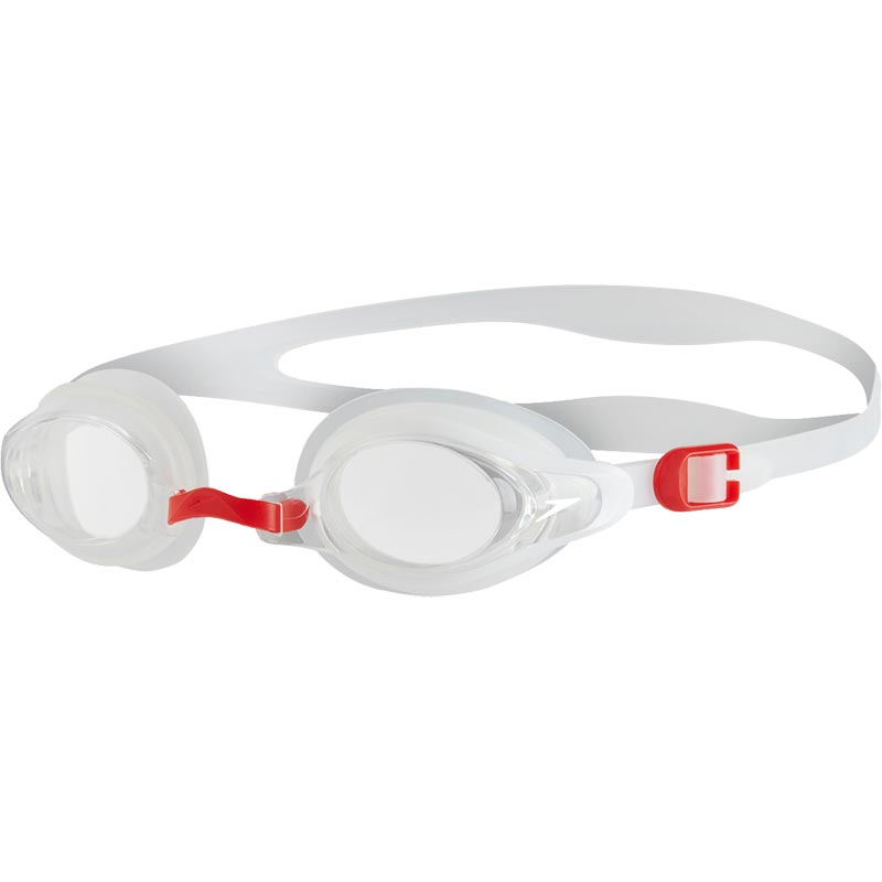 Speedo Mariner Supreme Swimming Goggles Clear/White/Red