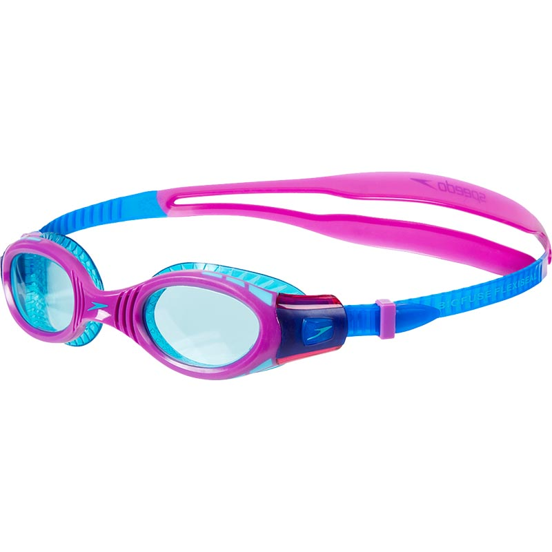 Speedo Junior Futura Biofuse Flexiseal Swimming Goggle New Surf/Purple/Peppermint