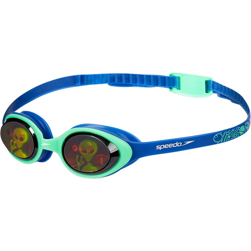 Speedo Junior Illusion 3D Printed Swimming Goggles Ultrasonic/Green/Alien