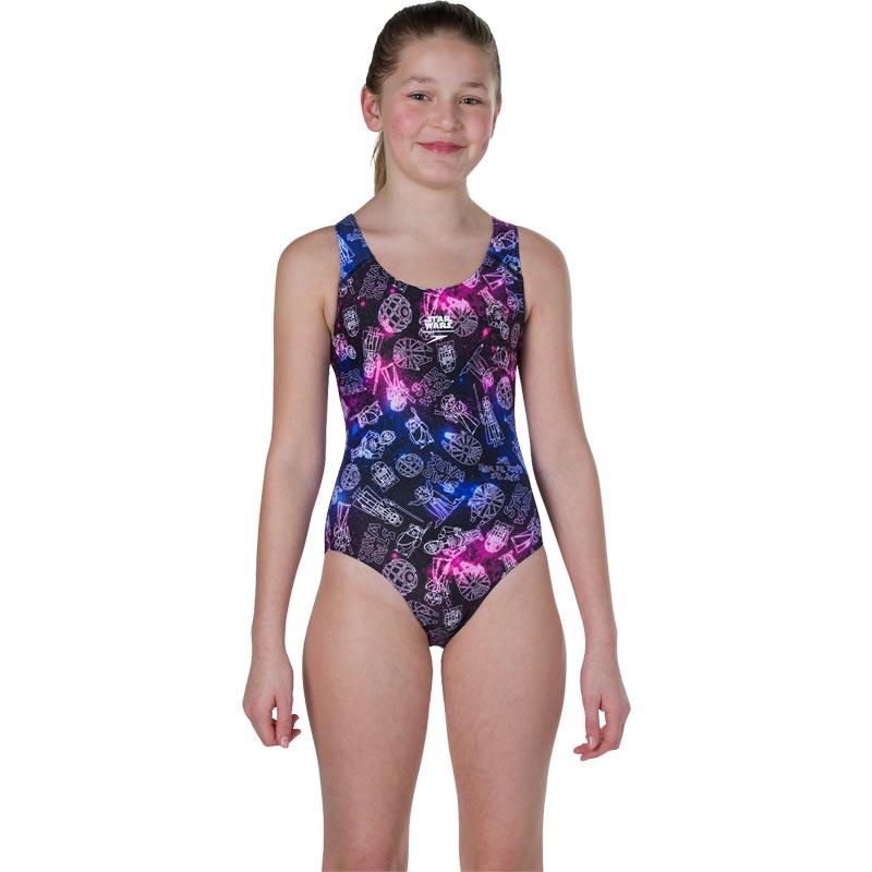 Speedo Star Wars Character Constellation Allover Splashback Swimsuit