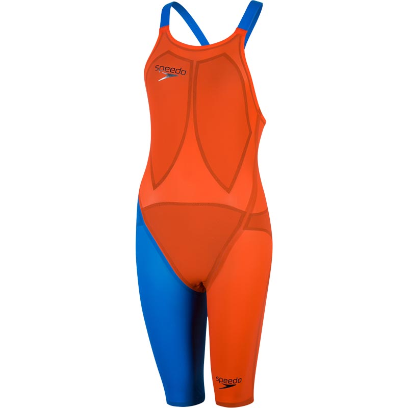 Speedo LZRElite 2 Openback Kneeskin Hot Orange/Bondi Blue