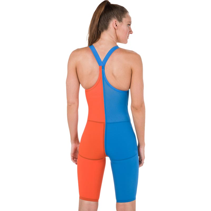 Speedo LZR Elite 2 Closedback Kneeskin Hot Orange/Bondi Blue