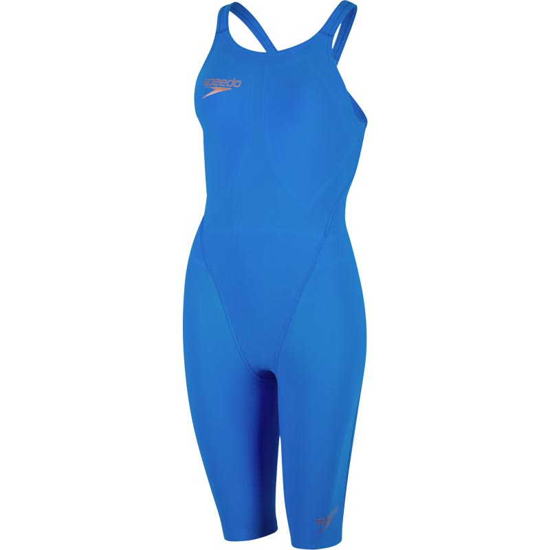 Speedo LZR Racer Element Openback Kneeskin Bondi Blue/Copper